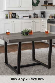 Banbury Designs Distressed Solid Wood Dining Table