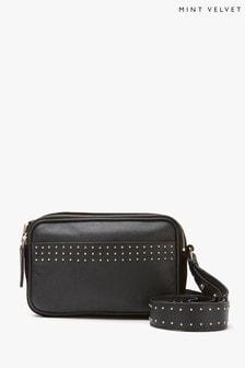 Mint Velvet Tara Black Stud Cross-Body Bag