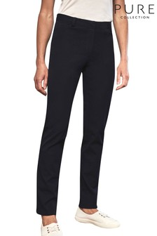 Pure Collection Blue Stretch Straight Leg Jeans