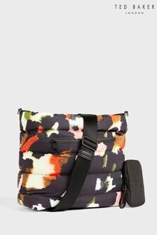 Ted Baker Gianara Forager Watercolour Nylon Puffer Hobo Bag