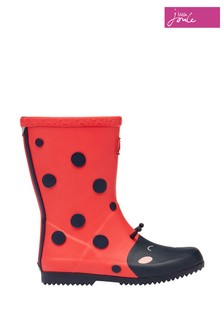 Joules Red Flexible Printed Wellies