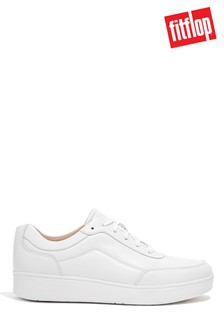 FitFlop White Rally X Leather Trainers