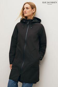 Ilse Jacobsen Black Functional Raincoat