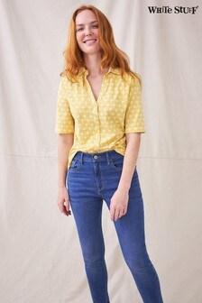 White Stuff Yellow SS Annie Jersey Shirt