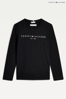 Tommy Hilfiger Black Essential Long Sleeve T-Shirt