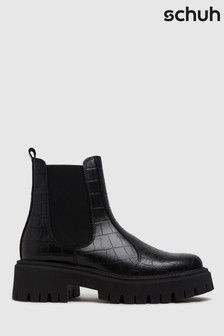 Schuh Avelina Leather Chunky Chelsea Boots