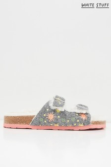 White Stuff Star Embroidered Footbed Sandals