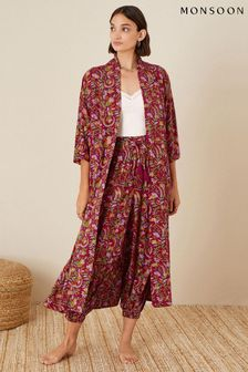 Monsoon Red Artisan Studio Longline Robe
