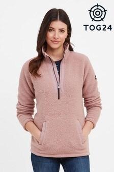 Tog 24 Pink Asenby Zip Neck Fleece