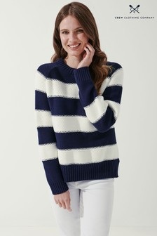 Crew Clothing Company Blue All Aboard Jumper