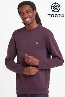 Tog24 Purple Mellor Mens Crew Neck Sweatshirt