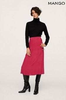 Mango Polka Dot Midi Skirt