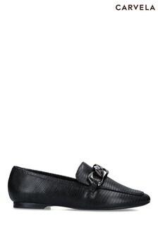 Carvela Black Rebel Loafer Shoes