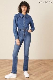 Monsoon Blue Harris Soft Flare Jeans