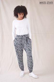 White Stuff Grey Hanna Jersey Printed Hareem Trousers