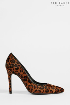 Ted Baker Malyk Brown Imitation Leopard Court Shoes