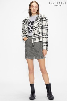 Ted Baker Grey Phraya Denim Mini Skirt