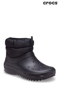 Crocs Womens Black Classic Neo Puff Shorty Boots