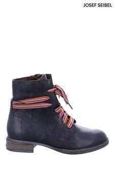 Josef Seibel Blue Sanja 04 Leather Ankle Boots