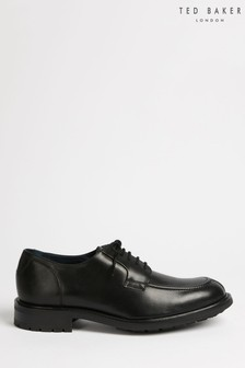 Ted Baker Black Paddy Apron Lace Leather Derby Shoes