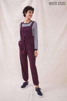 White Stuff Purple Plum Daphne Jersey Dungaree