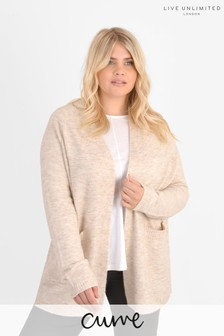 Live Unlimited Curve Natural Oatmeal Cardigan