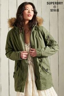 Superdry Green Field Parka Coat