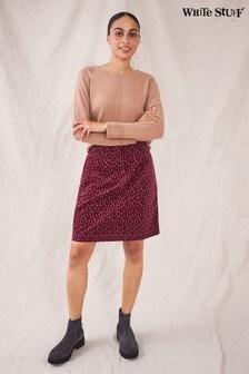 White Stuff Womens Purple Sadie Organic Cord Skirt