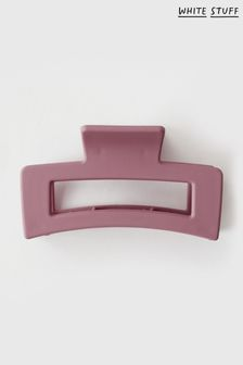 White Stuff Womens Red Matte Rectangle Hair Claw