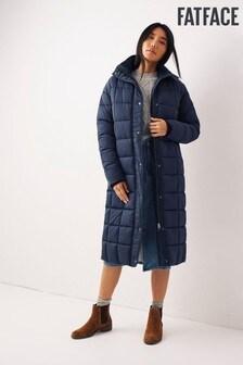 FatFace Blue Harley Long Puffer Coat