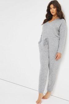 Figleaves Grey Cuffed Jumpsuit