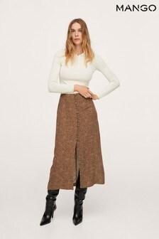 Mango Womens Brown Skirt
