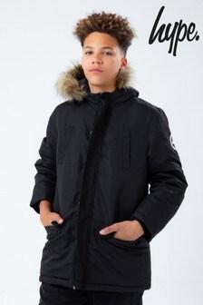 Hype Black Parka Jacket