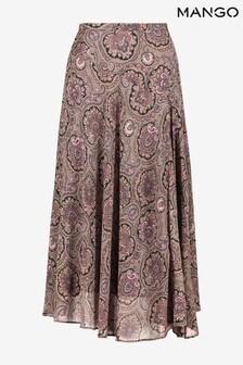 Mango Womens Purple Skirt