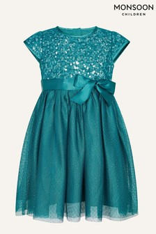 Monsoon Younger Girls Baby Paige Sequin Dress