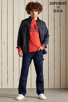 Superdry Red Script Style Workwear T-Shirt