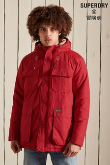 Superdry Red Mountain Padded Parka Coat