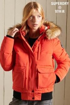 Superdry Orange Everest Bomber Jacket