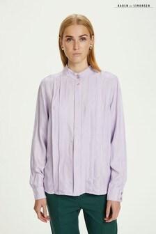 Karen By Simonsen Womens Purple Hanikb Hip Length Long Sleeve Shirt