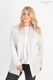 Live Unlimited Curve Grey Pocketed Cardigan