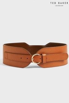 Ted Baker Brown Elzbeth Wide Waist Shaped Belt