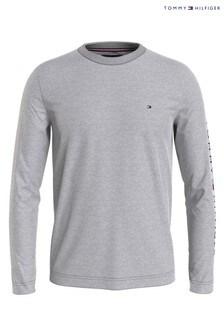Tommy Hilfiger Grey Logo Long Sleeve T-Shirt
