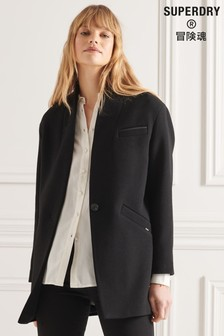 Superdry Black Studios Wool Town Coat