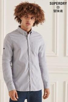 Superdry Blue Studios Organic Cotton Micro Check Shirt