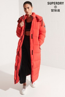 Superdry Red Touchline Padded Coat