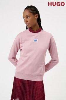 HUGO Pink Nakira Patch Sweatshirt