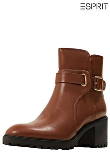 Esprit Brown Casual Ankle Boots