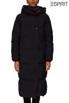 Esprit Black Reversible Longline Padded Coat