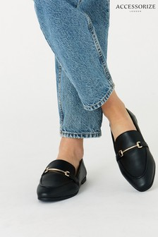 Accessorize Black Tapered Loafers