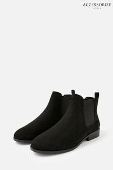 Accessorize Black Suedette Chelsea Boots
